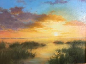 Marsh Sunset - 11x14 -SOLD
