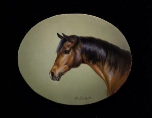 Profile of a Bay Horse_1.5 x 2 inches_$525