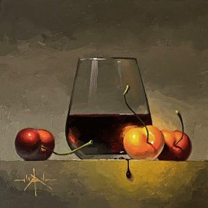 Cherry Wine_6x6_ Oil_$700