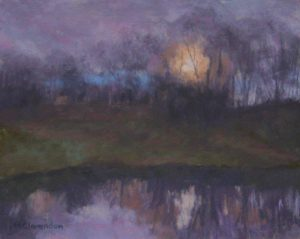 Full Moon Rising_8 x 10_soft pastel_$425