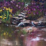 Iris Garden, Ladew; Oil, 8x8 in; $500