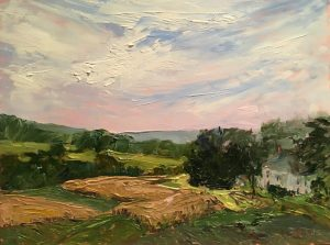 Last of the Corn, Irish Avenue; Oil; 9x12 in; $750