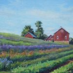 Lavender Fields at Star Bright Farm, Oil on Canvas, 11 x 14 $375