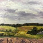Lighted Fields; Oil; 8x16 in.; $975