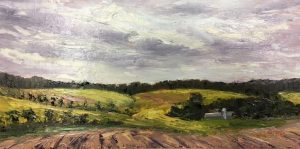 Lighted Fields; Oil; 8x16 in.; $975