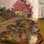 Lily Pond, Ladew Gardens;oil; 8x8 in.; $500