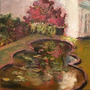 Lily Pond, Ladew Gardens;oil; 8x8 in.; $500