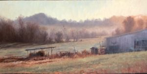 Old Farm 7x14; oil; $1,000