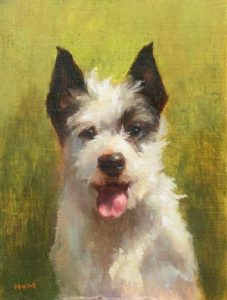 Scruffy; Oil on Panel; 4x3; $285