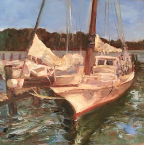 Skipjack; Oil; 8x8 in; $500