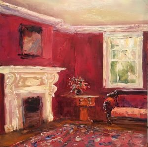 The Red Room; Oil; 12x12 in; $950