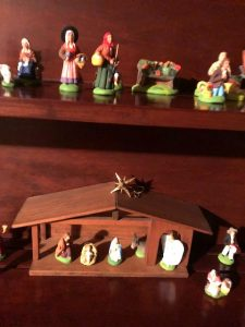 Joan Norman collects Nativity sets