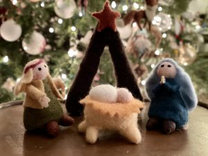 The O'Malley nativity set was given to their little boys by their paternal grandmother