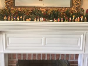 Pat and Earl Martin's set on the mantel in the family room.