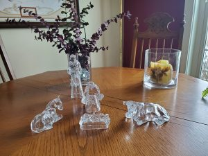 Pam Windsor's crystal nativity