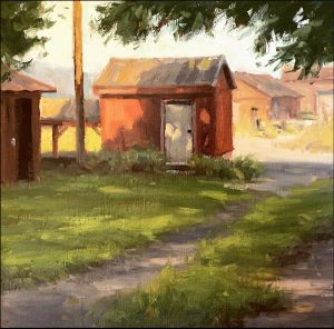 Shed Shadow_8 X 8_oil_$325