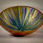 Acrylic paint and eucalyptus bowl 2 1:2 x 7 1:2 $250