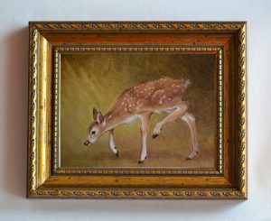 Grazing Fawn_3x4inches framed $525