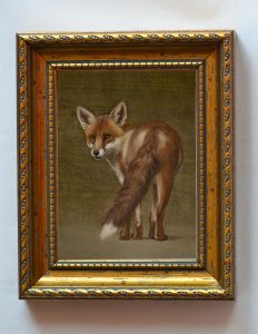 Leery of the Horn_4x3inches_Framed $525