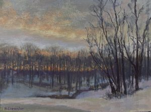 Cold Morning_soft pastel_9 x 12_$400