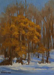 Winter Oaks_9 x 12_oil on linen panel_$450