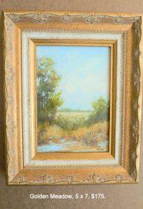 Golden Meadow, 5x7, $175