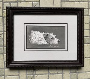 Tired Terrier 4x6 $325
