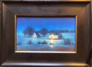 Moonlit Farm 6x10 12x16 $700