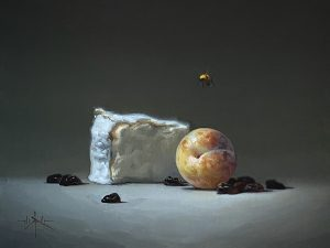 Plumcot with Brie and Dried Cherries 9 x 12 $1,800