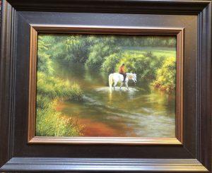 River Crossing 12x16 18x21 Oil $1650