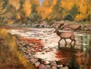 River Crossing, 12x16 oil, $975