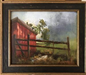 Stormy Hen House 8x10 $330