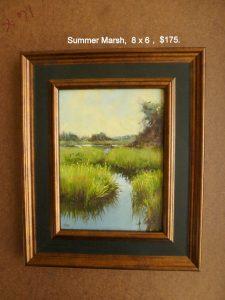 Summer Marsh, 8x6,$175